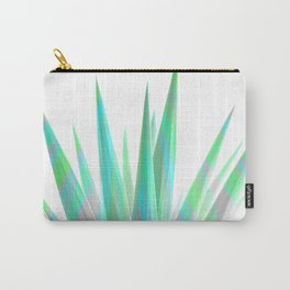 Tropical Allure - Green & Grey on White Carry-All Pouch