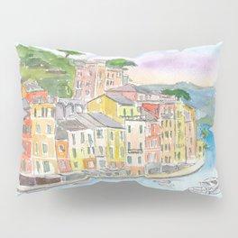 Portofino Ligure Dream Seafront View Pillow Sham