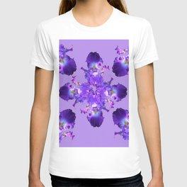Purple Iris Abstract  Collage Art T-shirt