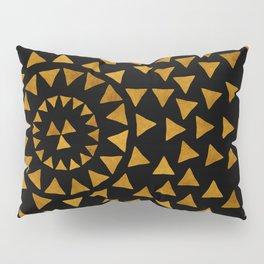 Dark Sun - Gold and Black Pillow Sham
