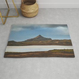 Road Trip in Iceland. || Icelandic Lake and Mountains. || MadaraTravels Art Print Rug