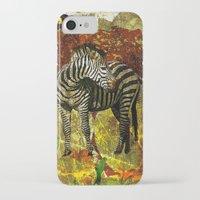 zebra iPhone & iPod Cases featuring Zebra by Saundra Myles