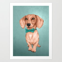 Dachshund, The Wiener Dog Art Print