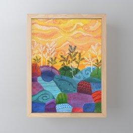 on and on fields Framed Mini Art Print
