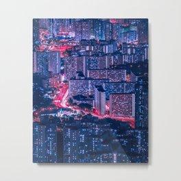 Hong Kong density Metal Print