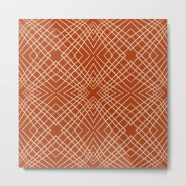 Abstract Decorative Pattern 44 - Cashmere, Fiery Orange Metal Print