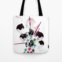 bubbles Tote Bags featuring Bubbles by Stéphanie Brusick / Art by shop