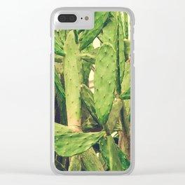Southwest Desert Cactus Clear iPhone Case