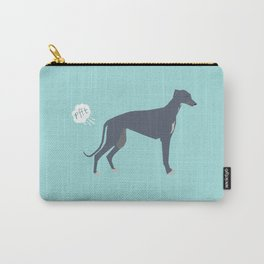 Greyhound farting dog cute funny dog gifts pure breed dogs Carry-All Pouch