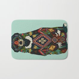 sun bear mint Bath Mat