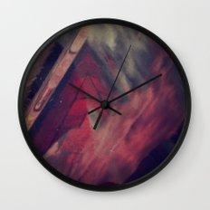 Pyramid Ablaze  Wall Clock