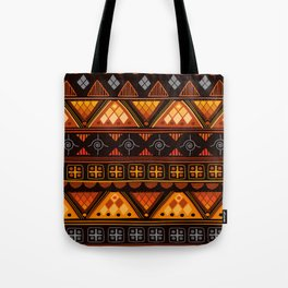 Bright Aztec Pattern Tote Bag