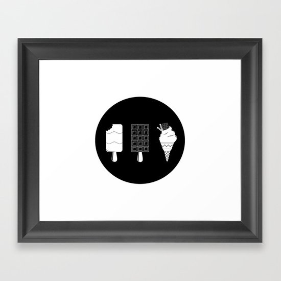 ice-cream  Framed Art Print