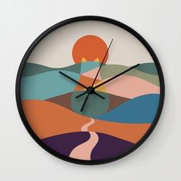 Cat Landscape 65 Wall Clock
