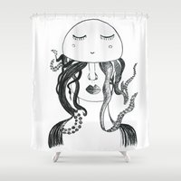 winter soldier Shower Curtains featuring soldier by monicamarcov