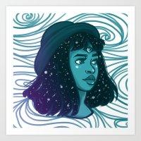 Rainbow Girls - Teal Art Print