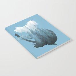 Misty Forest Koala Bear - Blue Notebook