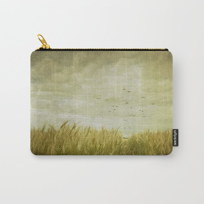 Vintage Wheat Field Carry-All Pouch