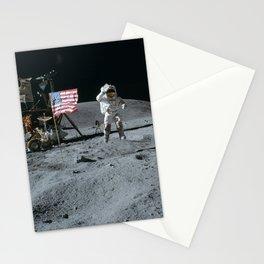Apollo 16 - Astronaut Moon Jump Stationery Cards