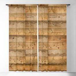 Wood Planks Dark Blackout Curtain