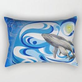 cosmic whale Rectangular Pillow