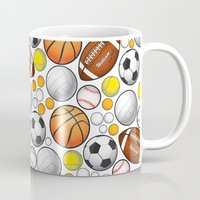 sport Mugs featuring Sport Balls by Martina Marzullo Art