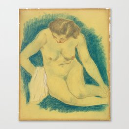 Paul Gauguin - Seated nude seen from above Canvas Print