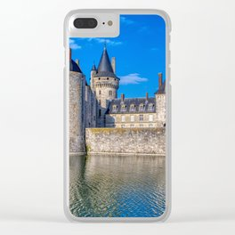 Famous medieval castle Sully sur Loire at sunset, Loire valley, France. Clear iPhone Case