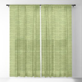 Palm Traffic! (Olive Green) Sheer Curtain