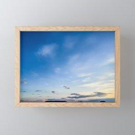 Blue Sky After Sunset Framed Mini Art Print