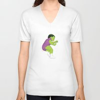 toddler V-neck T-shirts featuring Toddler Hulk SMASH! by Moats