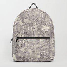 vintage halloween purple ivory Backpack