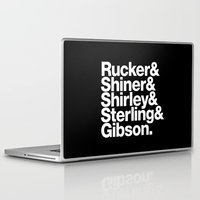 cyberpunk Laptop & iPad Skins featuring Cyberpunk Jetset by Largetosti