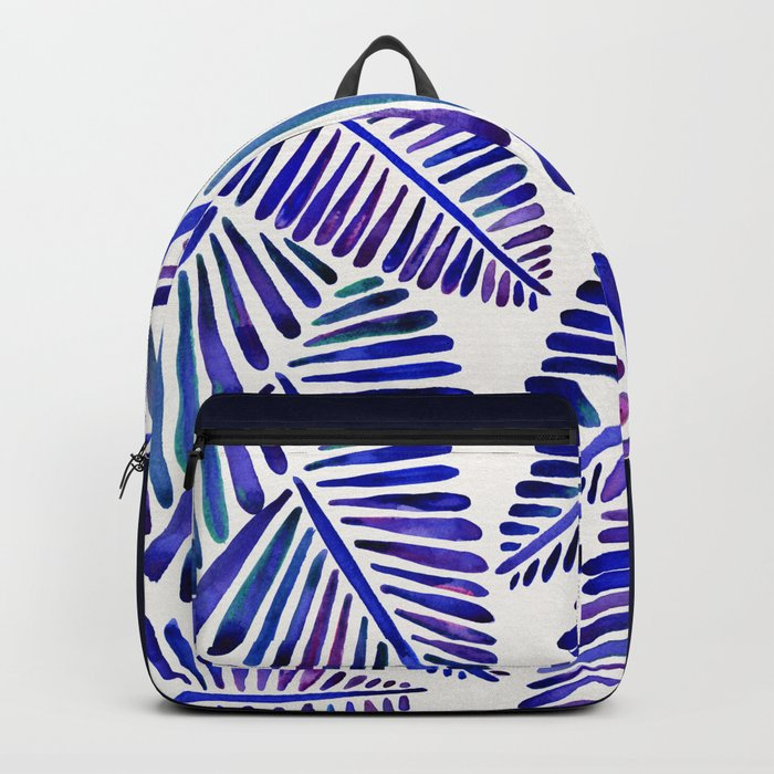 Tropical Banana Leaves – Indigo Palette Backpack