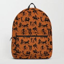 Greek Figures // Dark Orange Backpack