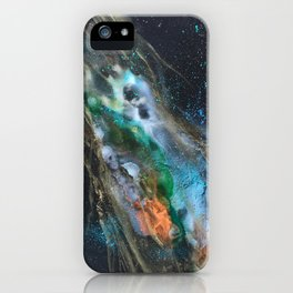 Mandarin Mint Nebula iPhone Case