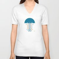 jelly fish V-neck T-shirts featuring Jelly the Fish by Kirsten Ulve