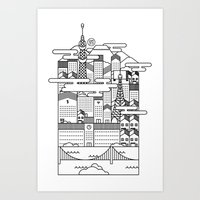 tokyo Art Prints featuring TOKYO by Design Made in Japan