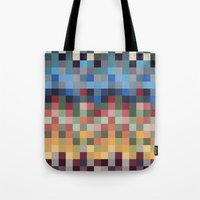 pixel Tote Bags featuring Pixel by crrr