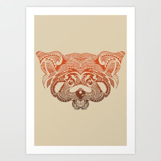 Polynesian Red Panda Art Print