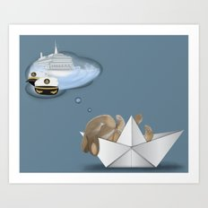 I Want To Be A Captain Art Print