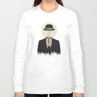 magritte Long Sleeve T-shirts featuring Magritte | The Loading of Man by Gabriel Mihai | SnakeBishop