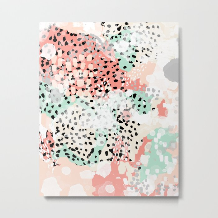 Breah Abstract Painting Pastel Colors Nursery Baby Gender Neutral Hipster Metal Print By Charlottewinter