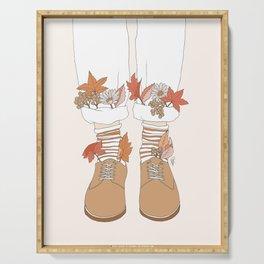 Autumn Walks Serving Tray