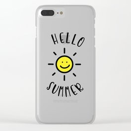 Hello Summer Clear iPhone Case