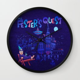 Fester's Uncle Quest Wall Clock