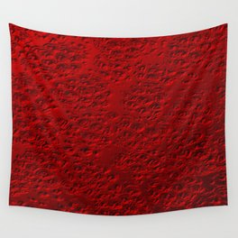 Damaged red metal Wall Tapestry