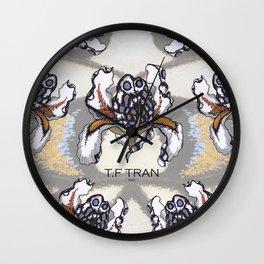 T.F TRAN MULTICOLOUR BUTTERFLY IRIS Wall Clock