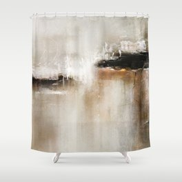 Natural Abstract Painting - Modern Handwritten Contemporary (Most Popular) Shower Curtain