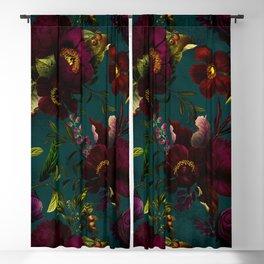 Before Midnight Vintage Flowers Garden Blackout Curtain